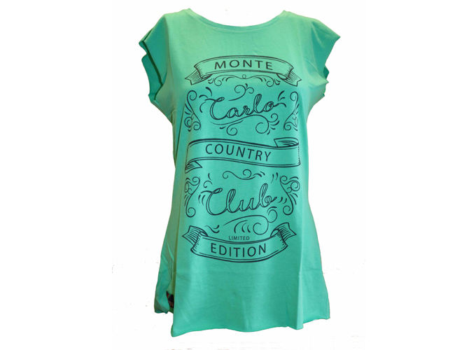 WOMEN'S GREEN  TEE-SHIRT