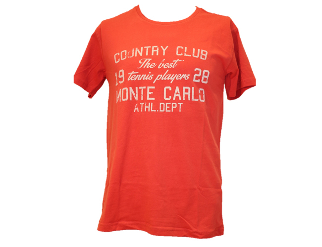 TEE-SHIRT HOMME COTON ROUGE